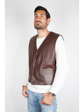 """GRANDFATHER ""  Gilet In Pelle"